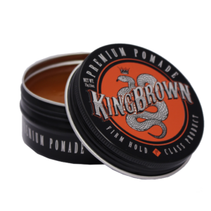 Barbier Wasserbasierte Pomade Gel Firm Hold King Brown schwarz