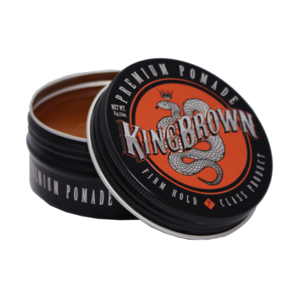 Barbier Wasserbasierte Pomade Gel Firm Hold King Brown schwarz