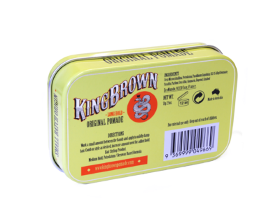 King Brown Pomade Rueckseite