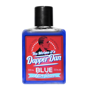 Dapper Dan Blue Aftershave Cooles Tones and Refreshes