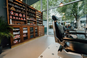 Barbershop im MINI Pavillon von Barber House