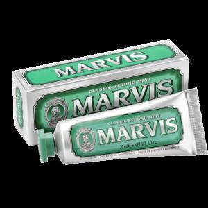 Marvis Classic Strong Mint Zahnpasta 25ml Gruen